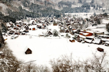 The world heritage in Japan, Shirakawa go