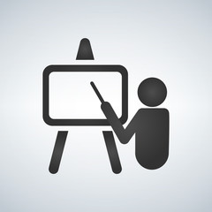 Training, presentation icon. Vector.