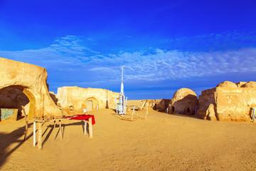 Star Wars decoration in Sahara Desert.