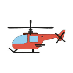 Helicopter aircraft symbol icon vector illustration graphic design