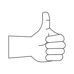 Thumb up like hand symbol icon vector illustration graphic design