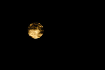 full moon, moon yellow