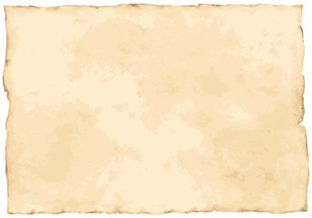 Vintage paper background isolated on white.