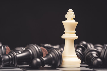 Chess board games business strategy pan concept
