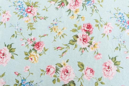 Retro rose fabric background