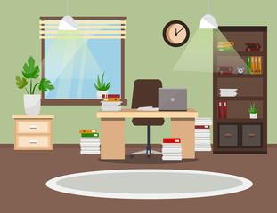 Modern office interior. Vector illustration.