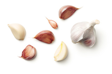 Acrylic Prints Aromatische Garlic Isolated on White Background