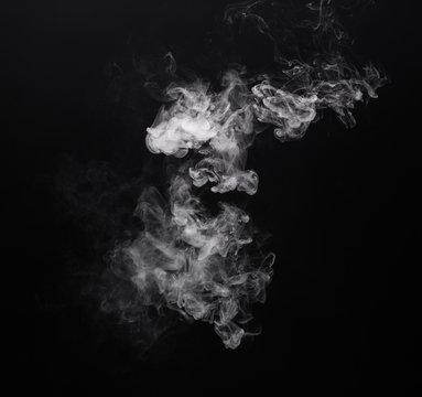 Photo white smoke of e-cigarette
