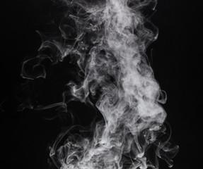 Photo white isolated smoke of cigarette