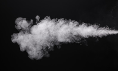Photo isolated smoke of cigarette