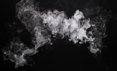 Isolated white smoke of e-cigarette