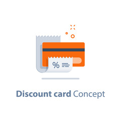 Loyalty program, discount card, till slip, credit card payment