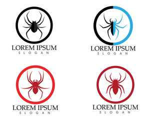 Spider logo and symbols template icons app