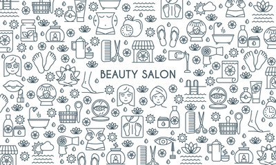 Thin line design beauty banner