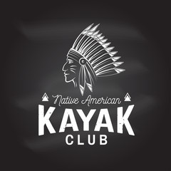 Kayak club. Vector illustration.