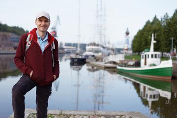 Tourist in Turku, Finland