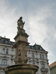 Roland or Maximilian Fountain in Bratislava, Slovakia.