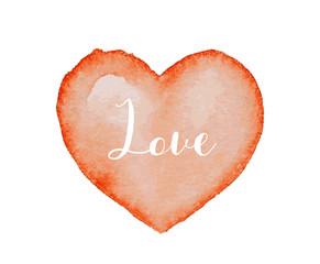 Watercolor heart shape illustration
