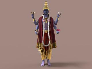 Ilustración del dios hindú Vishnu