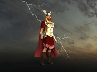 Ilustración del dios Thor