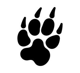 Paw Print Icon, Dog, Cat, Fox Foot Imprint