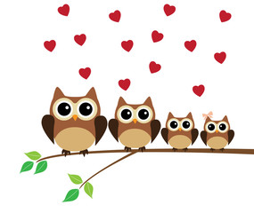 Owl Family Valentine