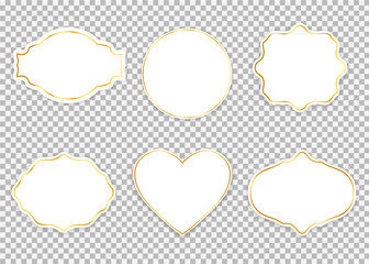 White frames set. Vector illustration.