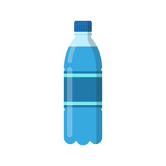 Bottle of water. Vector illustration. Flat design.