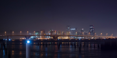 Abu Dhabi city at night