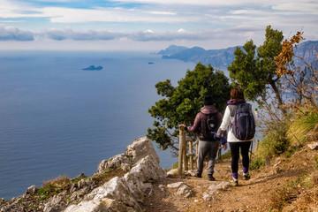 Italy, Campania, Praiano, Agerola Sentiero degli Dei