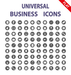 Business. Universal Icons. Vector. Flat.