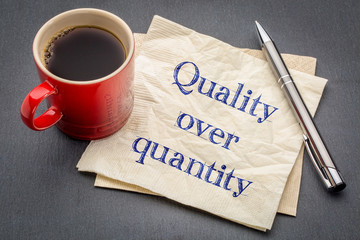 quality over quantity inspirational reminder note