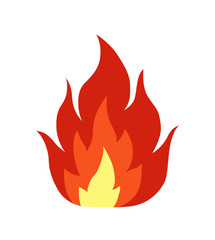 Single fire flame flat illustration