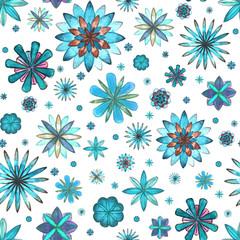 Floral seamless ethnic boho pattern
