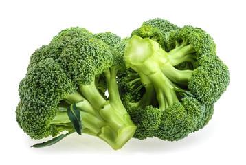 Fresh broccoli isolated on white background