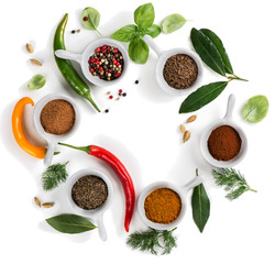 Wall Mural - Cooking ingredients - herbs and spices.