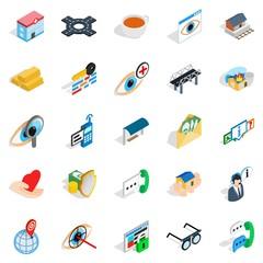 Medico icons set, isometric style