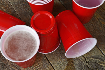 Red Beer Pong Cups