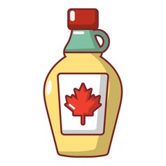 Maple syrup icon, cartoon style