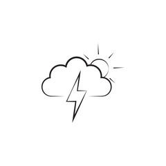 sign of partial thunderstorm icon. Elements of weather signs icon. Premium quality graphic design. Signs, outline symbols collection icon for websites, web design, mobile app
