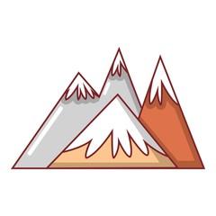 Mountains icon, cartoon style
