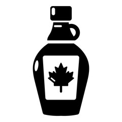 Maple syrup icon, simple black style