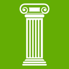 Roman column icon green