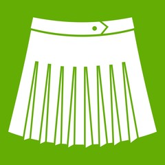 Tennis female skirt icon green