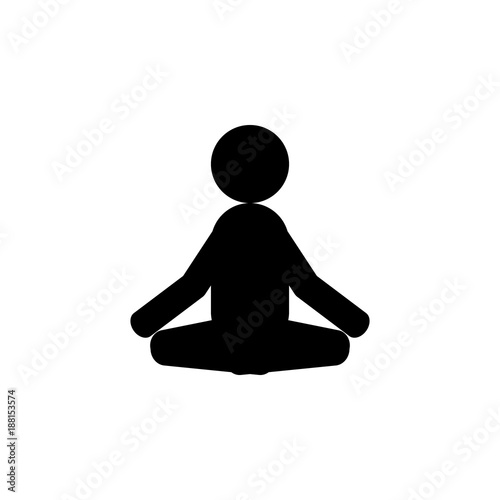 Meditator Icon Elements Of Indian Culture Icon Premium Quality