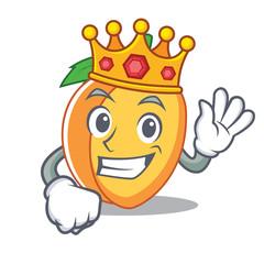 King apricot mascot cartoon style