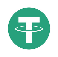 Tether (USDT) logo icon. Cryptocurrency / Altcoin.
