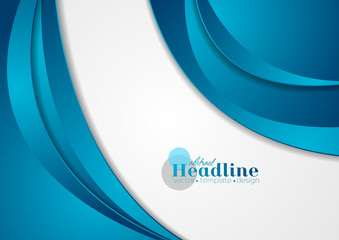 Blue corporate wavy abstract background
