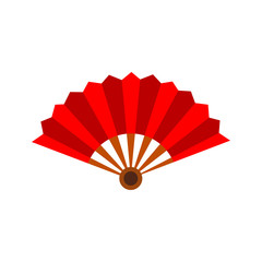 Paper Hand Fan Vector Illustration Graphic