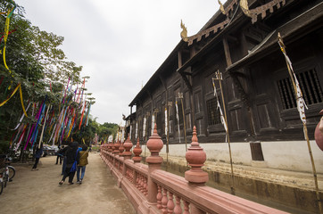 Temple,Buddhist Temple In Chiang Mai Thailand